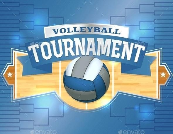 Background Poster Polos Menarik Volleyball tournament Template