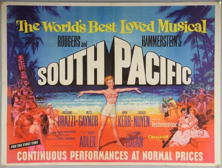 Bad Genius Poster Terhebat south Pacific 1960 S Rr British Quad Film Poster Musical Love