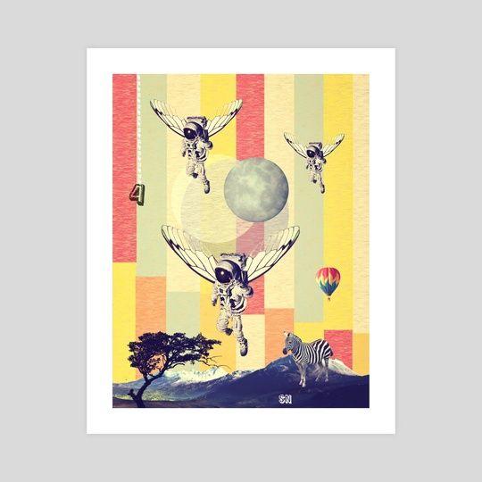 Badminton Poster Bermanfaat astroflys An Art Print by Serg Nehaev Inprnt