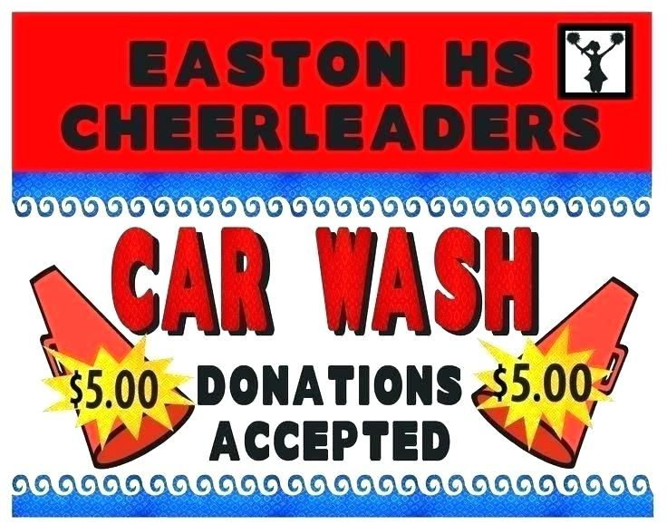 car wash fundraiser signs cheerleader fundraising poster sign up sheet template templates pre sale tickets free fundrai