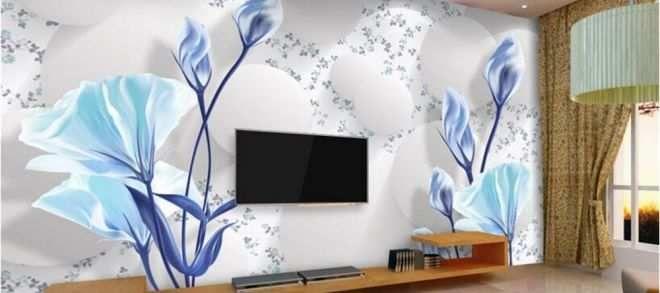 Bunga Kertas Lukisan Baik 52 Inspirasi Wallpaper Dinding Kamar Tidur 3d