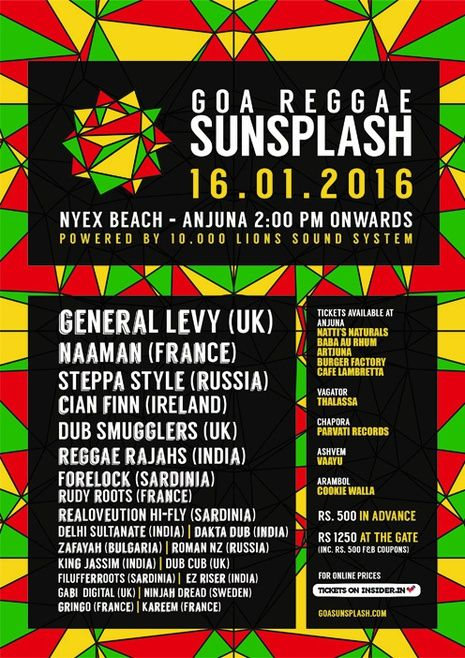goa sunsplash 2016 banner india s biggest reggae festival