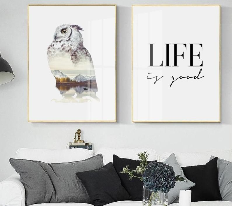 modern wall art canvas painting posters and prints landscape eagle wall pictures for living room life