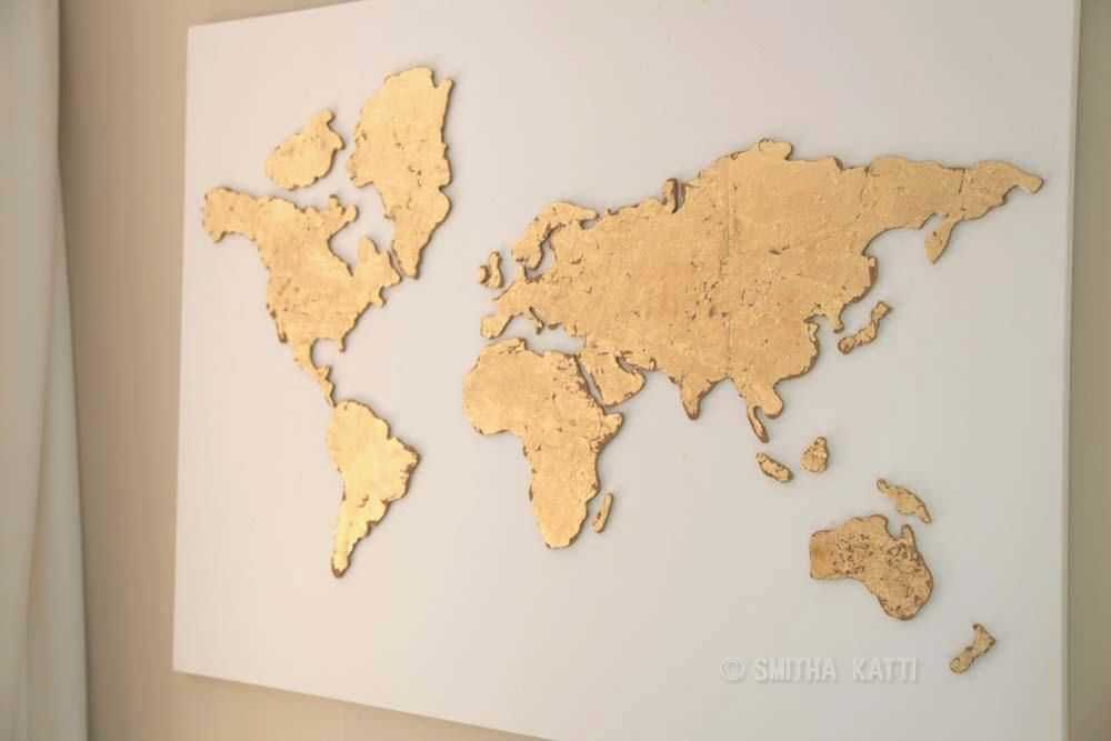 Canvas Poster Bernilai Mapping the World with Art Beautiful World Map Poster Watercolor