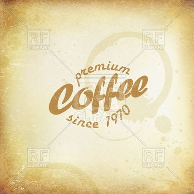 vintage coffee poster coffee stains and rings on old paper texture vector image vector