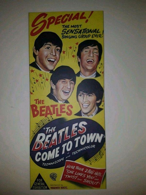 Concert Poster Terbaik Retro Beatles Concert Poster Usado En Venta En Moncton Letgo
