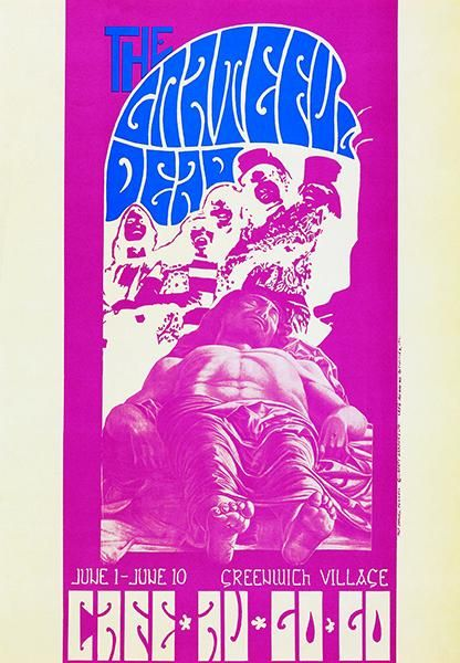 the grateful dead cafe au go go 1967 concert poster