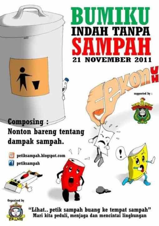 Contoh Poster Lingkungan Hidup Sehat Baik Poster Kebersihan Rumah
