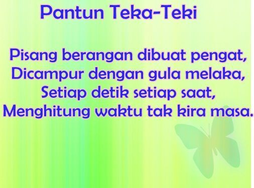 bahasa malaysia tahun 6 pantun teka teki