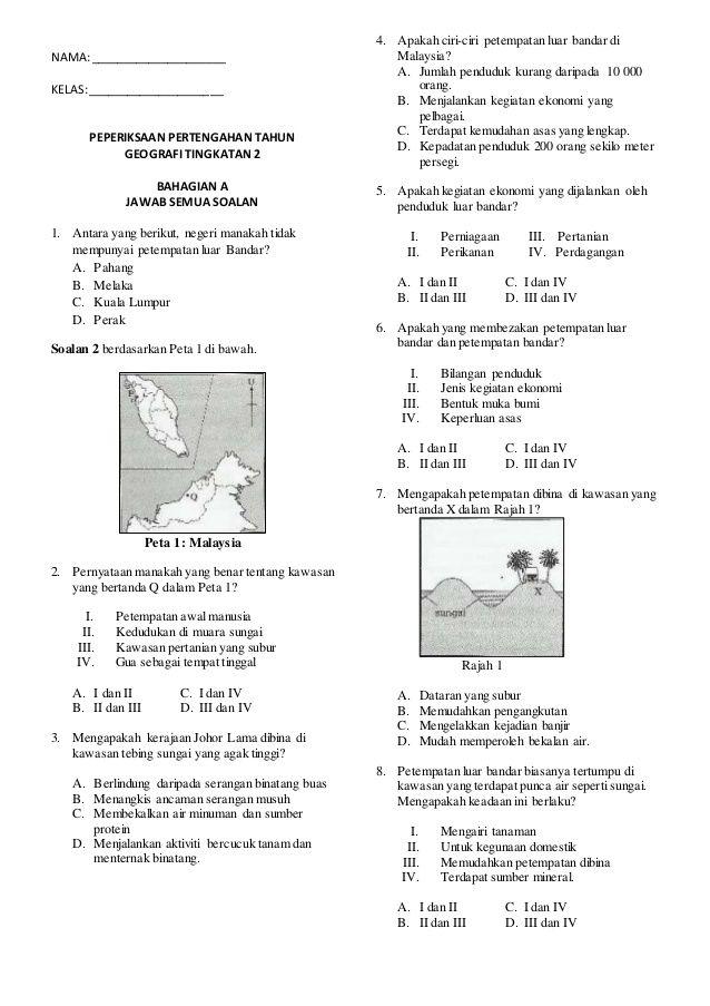 soalan peperiksaan akhir tahun geografi tingkatan 1 baik himpunan latihan geografi tingkatan 2 yang meletup khas