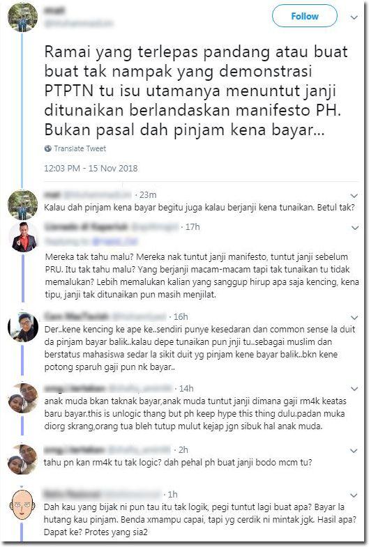 dah tahu tak logik kenapa kau yang bijak pergi tuntut debat netizen