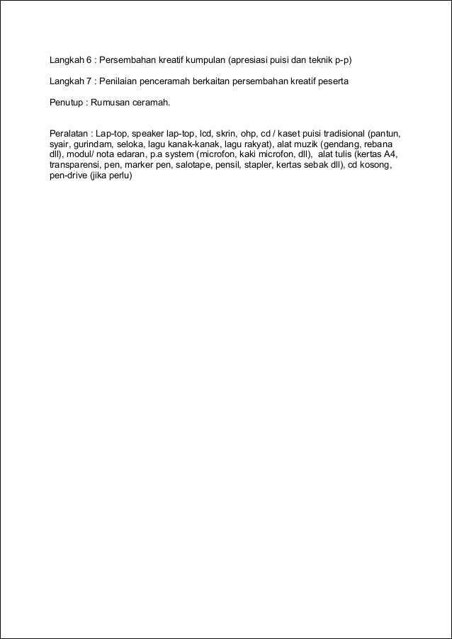 kumpulan pantun dan puisi terunik format modul latihan berdasarkan kandungan kursus 2
