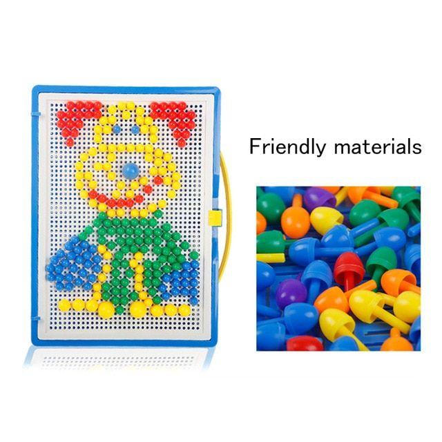296 pcs mosaik gambar puzzle mainan anak composite intelektual pendidikan jamur kuku kit mainan 998