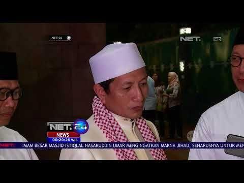 presiden jokowi salat tarawih di istiqlal net24