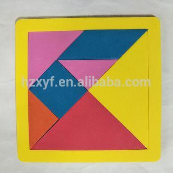 magnetic jigsaw puzzle iq tangram tangram eva persegi panjang untuk pendidikan