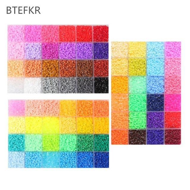 1000 pcs bag 2 6 mm hama manik puzzle toys 72 warna diy perler manik untuk