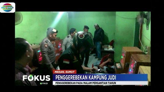 polisi gerebek kampung judi dan narkoba di medan 13 orang diamankan news liputan6 com