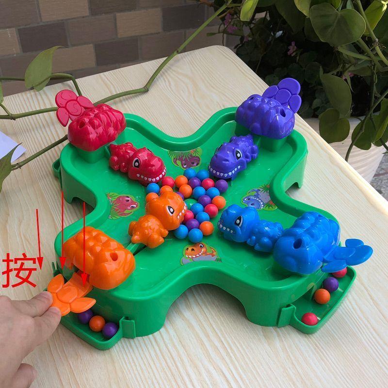 little trick dinosaur game katak tamak makan kacang ambil anak bola anak anak teka teki interaktif