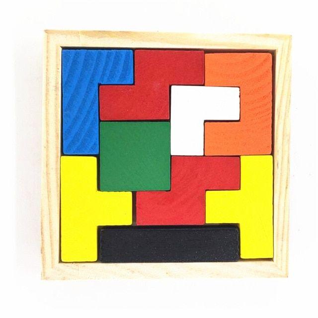 1 xeducational mainan tetris kreatif menyortir bentuk perkembangan otak 9 piece blok untuk anak
