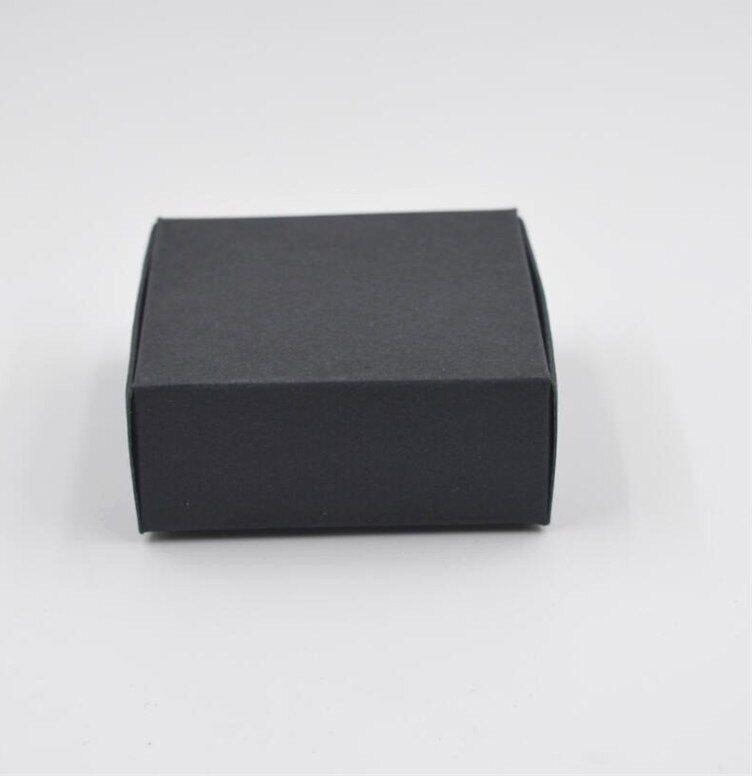 joy 50 pcs lot hitam paket kotak perhiasan kerajinan hadiah buatan tangan sabun kemasan kertas kraft