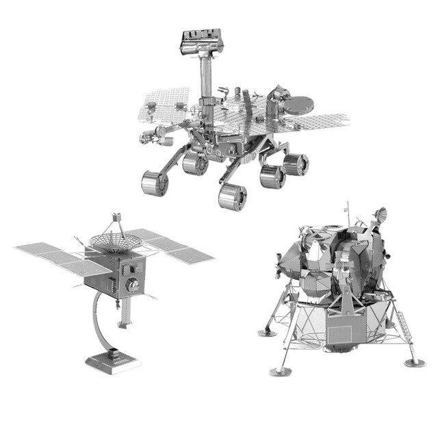 3d logam teka teki diy model ruang mesin robot satelit buatan manusia mars rover lunar