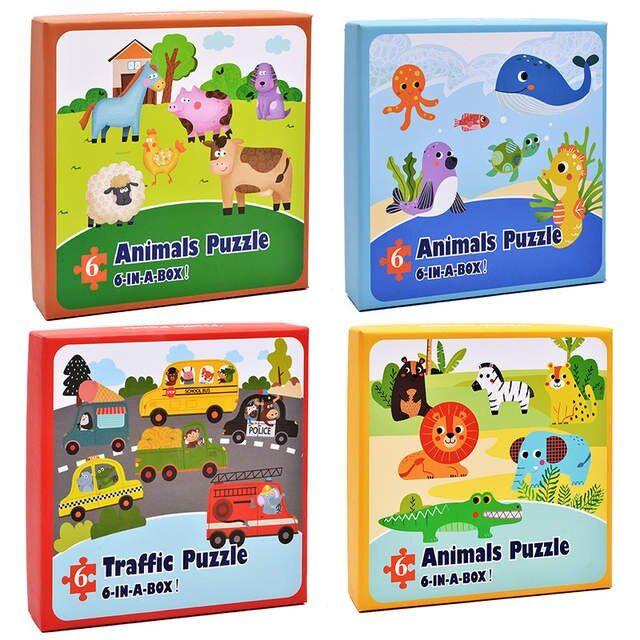 placeholder to loiter bayi mainan kayu teka teki jigsaw puzzle hewan lalu lintas ikan
