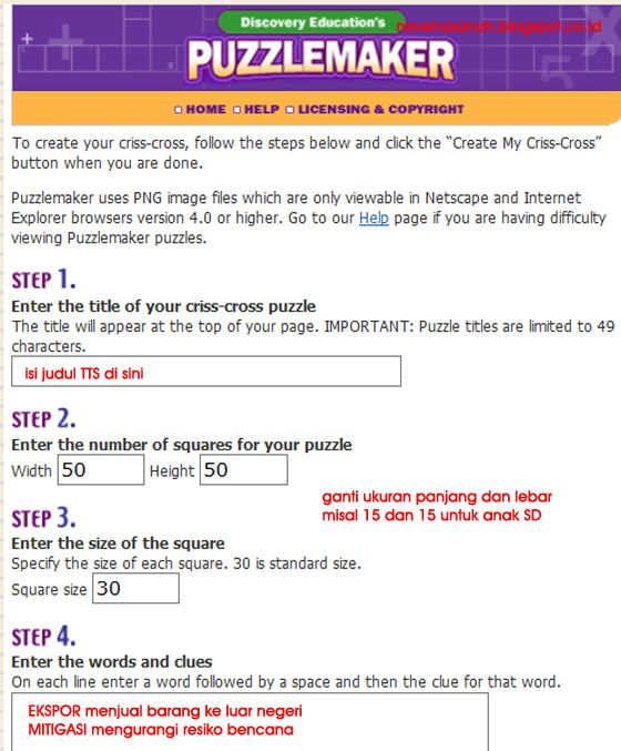 aplikasi online untuk membuat teka teki silang tts discovery education