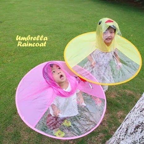idr 49rb jas hujan bentuk payung ready size yellow duck s m l pink peppa s m l biru peppa s m l spesifikasi ukuran