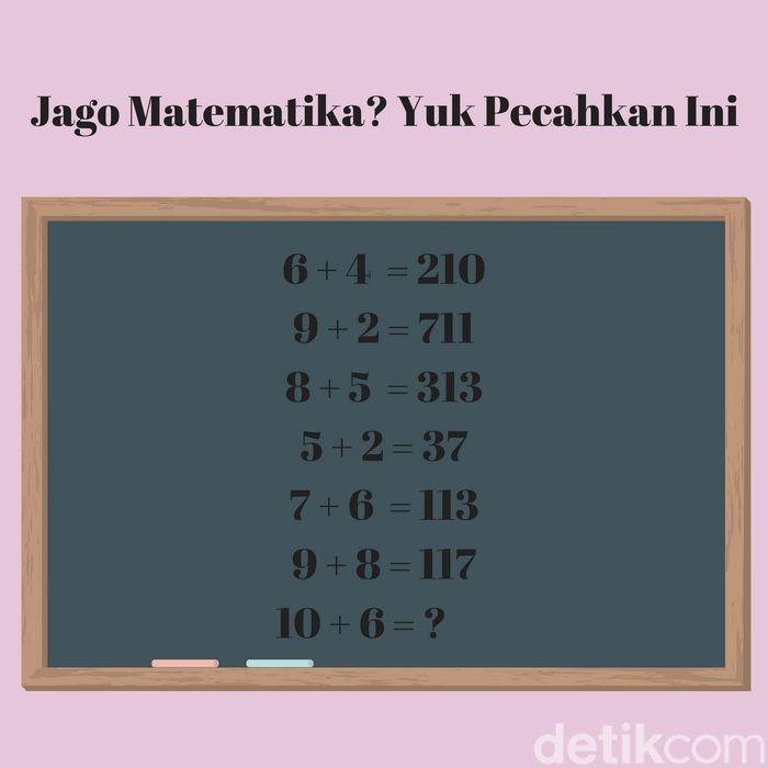 gemar matematika pasti tahu dong jawabannya apa