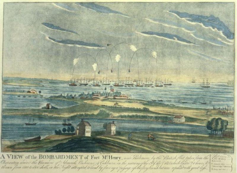 tentera amerika yang mempertahankan kubu bertahan dengan pengeboman dari pihak british dan tidak menyerah kalah menyedari mereka tidak akan boleh menawan