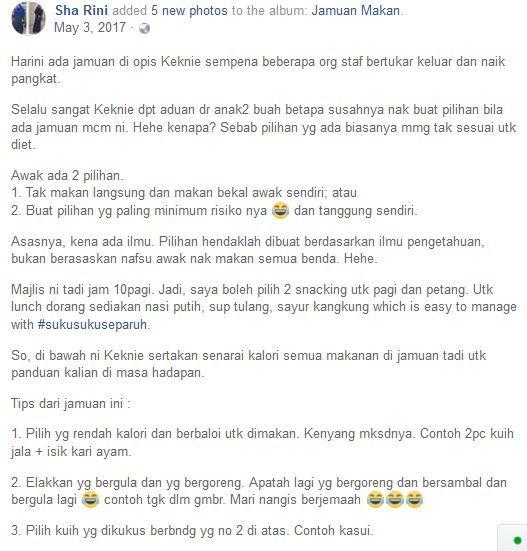 ramai netizen yang komen di pejabat mereka akan mengadakan jamuan dan potluck sempena menyambut ramadan nampaknya