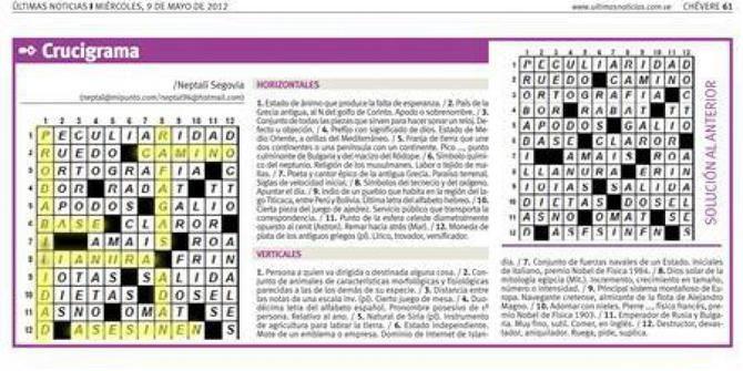 kode pembunuhan tersembunyi di teka teki silang koran venezuela