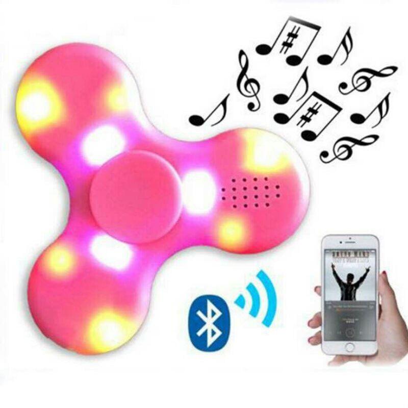 doub k led spinner plastik geser teka teki bluetooth speaker hadiah jari spiner stress relief mainan baru untuk dewasa gratis pengiriman di teka teki dari