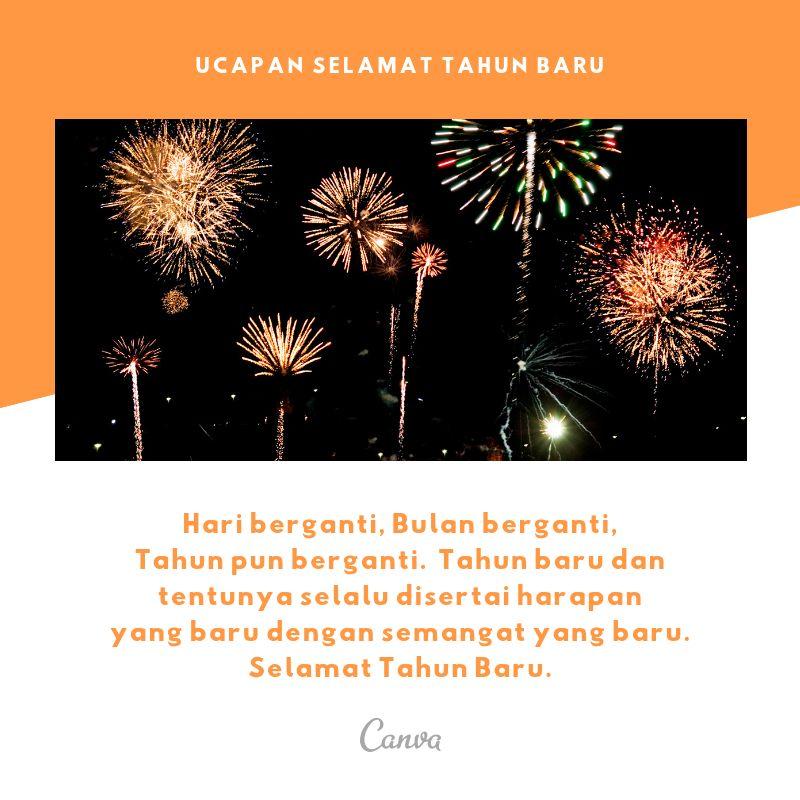 hari berganti bulan berganti tahun pun berganti tahun baru dan tentunya selalu disertai harapan yang baru dengan semangat yang baru selamat tahun baru