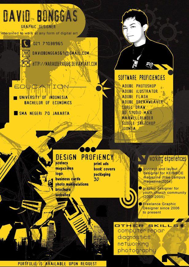 Creative Poster Design Inspiration Bermanfaat 30 Artistic and Creative Resumes Webdesigner Depot