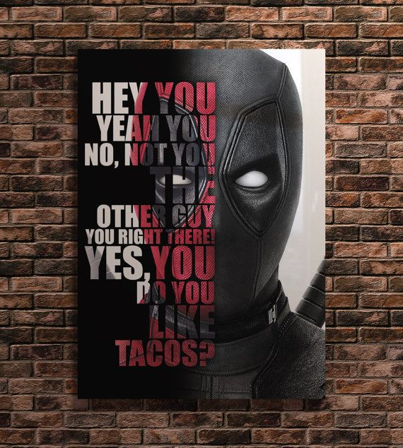 deadpool print famous movie quotes art by mintmindprint on etsy