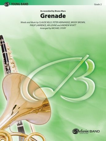 Flat Poster Terbaik Grenade B Flat Tenor Saxophone Claude Kelly Concert Band Sheet