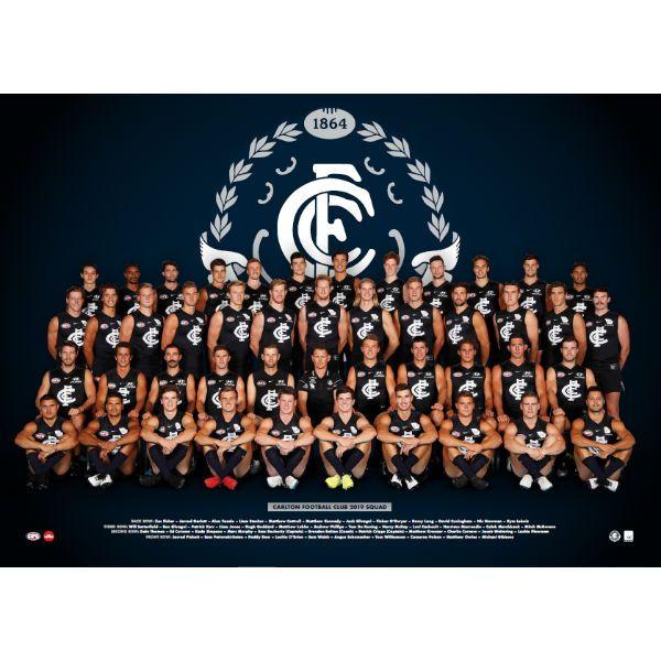 Football Poster Baik Carlton 2019 Team Poster Carlton Football Club