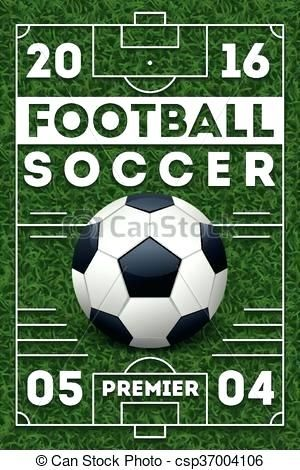 soccer football poster with field vector template soccer football football field design template templates for instagram