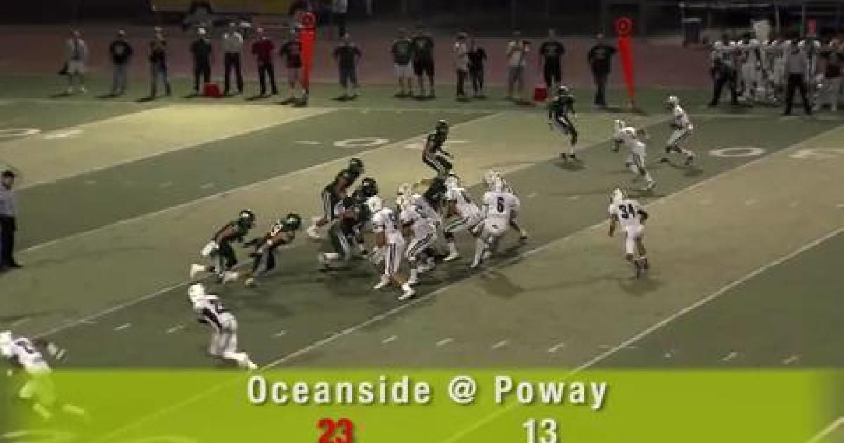 Football Poster Penting U T Tv Oceanside at Poway 9 21 12 the San Diego Union Tribune
