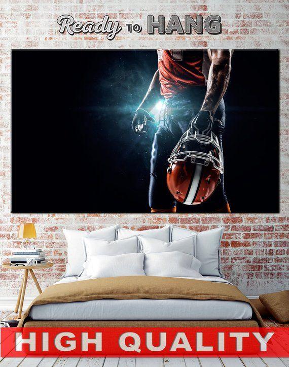 football poster football canvas football print sports decor motivational canvas sport wall art footb