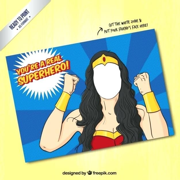 female superhero card template free vector poster movie