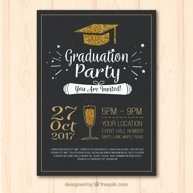 Freepik Poster Terbaik Stylish Template Of Graduation Party Poster with Golden Elements