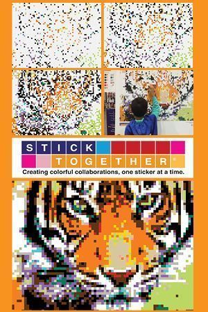 diy sticker mosaic puzzle posters tiger sticker mosaic project fun creative way for kids and adults