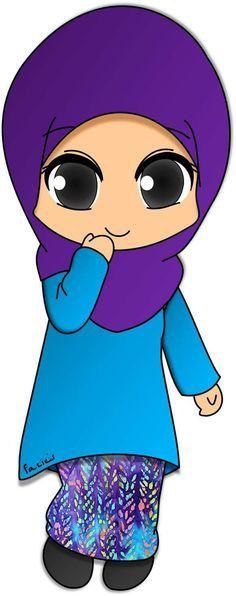 Gambar Ana Muslim Untuk Mewarna Baik 243 Best Muslim Cartoon Images islamic Cartoon Muslimah Anime