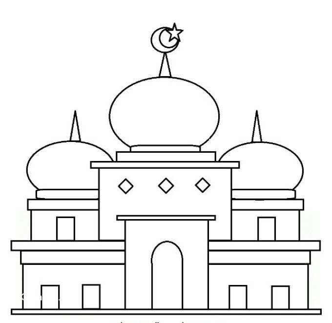 gambar mewarna masjid terbaik 1000 gambar mewarnai terbaru yang mudah untuk anak anak fokussatu com