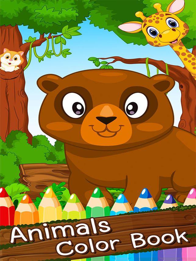 pad seni kartun haiwan belajar cat dan menarik haiwan yang mewarnai laman boleh cetak untuk kanak kanak percuma di app store