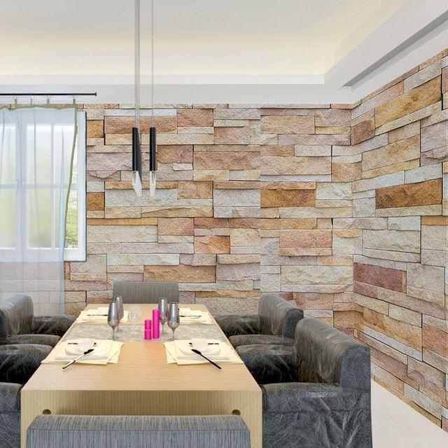 3d batu bata dinding foto wallpaper lukisan dinding stiker dekorasi rumah kertas dinding ruang tamu kamar