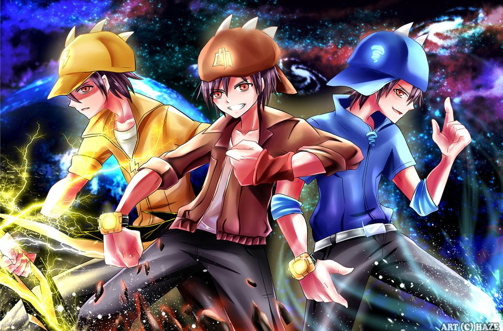 boboiboy galaxy trio by haruruhazelnut 1024x675