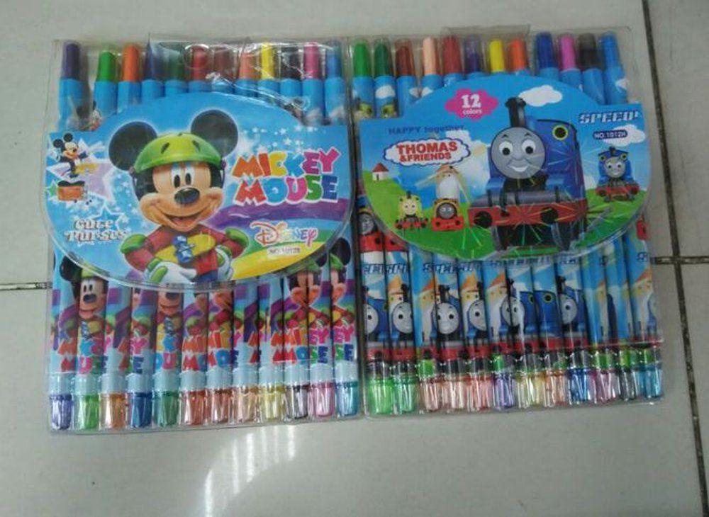 Gambar Mewarna Dengan Crayon Penting Hot Promo Crayon Krayon Warna Anak Putar Karakter 12 Warna